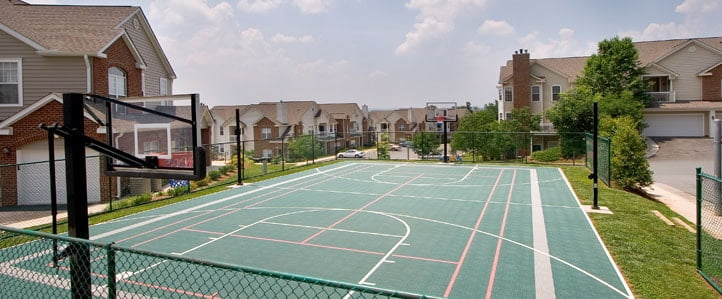 Charlottesville Apartments basket ball court