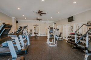 Fitness Center at Carriage Hill Apartments in Charlottesville