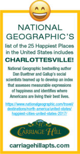 Charlottesville is one of the Happiest Cities in the US!