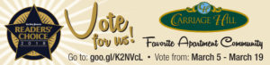 Vote for Us!  2018 Readers' Choice