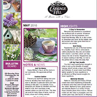 May Newsletter 2018